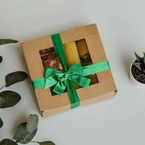 Lietuviška dovana su natūralaus vaško žvake
