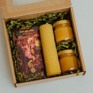 Lietuviška dovana su natūralaus vaško žvake 1